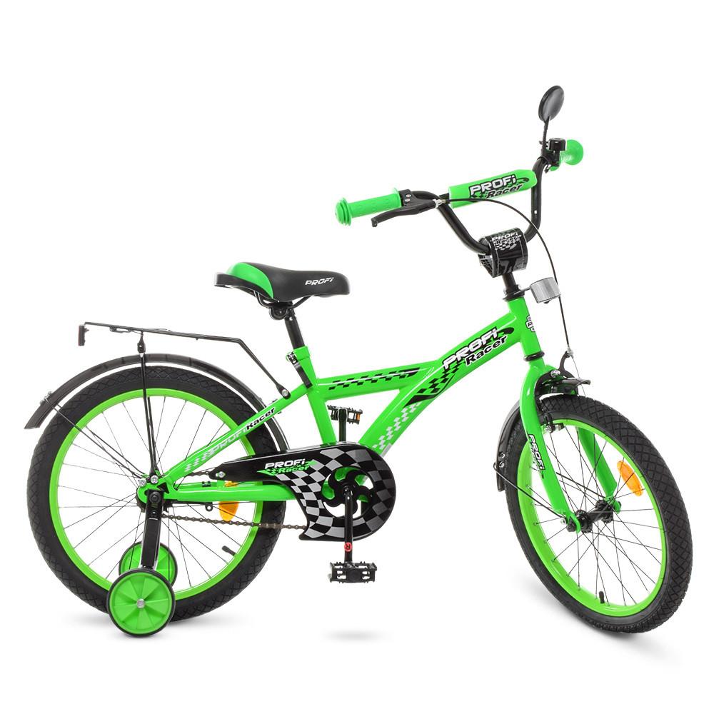Велосипед детский PROF1 18д. T1836 Салатовый