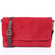 Женская кожаная сумка-клатч LASKARA (ЛАСКАРА) LK-DD220A-red, фото 3