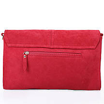 Женская кожаная сумка-клатч LASKARA (ЛАСКАРА) LK-DD220A-red, фото 2