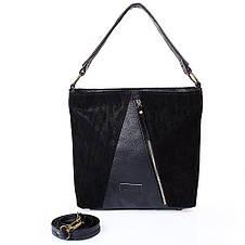 Женская сумка из качественного кожезаменителя  LASKARA (ЛАСКАРА) LK10196-black, фото 3