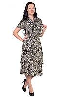 """Воздушное платье выполнено из ткани шелк """"Armani"""" в модный леопардовый принт, фото 1"""
