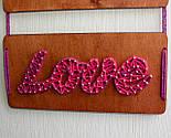 Панно стрінг-арт «Eat, Pray, Love»: декор за мотивами роману Елізабет Гілберт / String Art, фото 4