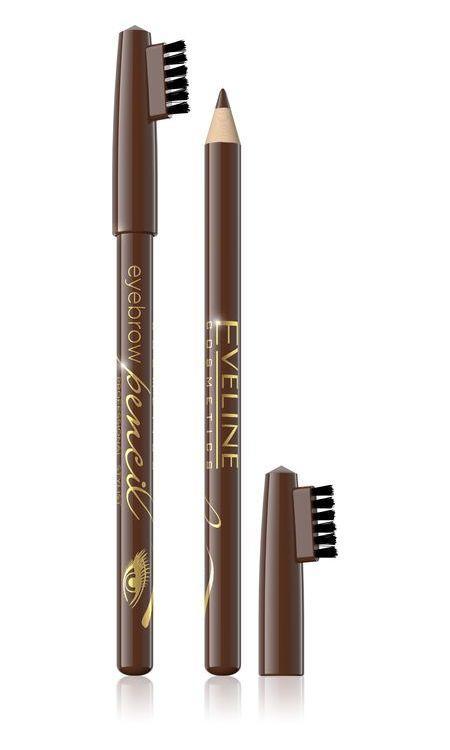 Контурный карандаш для бровей коричневый «Eyebrow Pencil» 1.2 г, Eveline Cosmetics, Эвелин