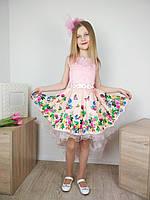 Платье детское нарядное со шлейфом, фото 1