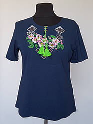Вышиванка женская футболка - Яблуневий Цвіт