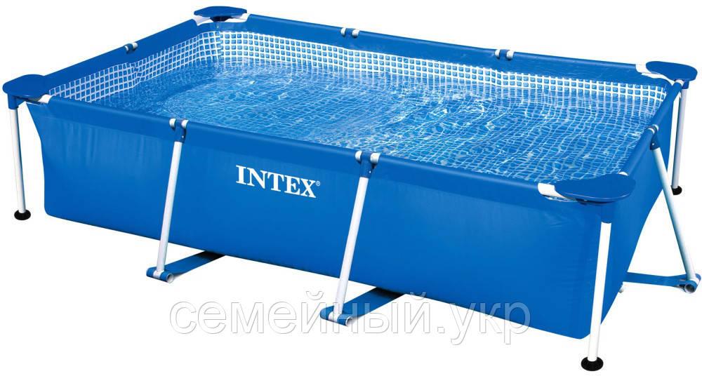 Каркасный бассейн 260х160х65. 3-х слойный ПВХ. Rectangular Frame Pool Intex 28271