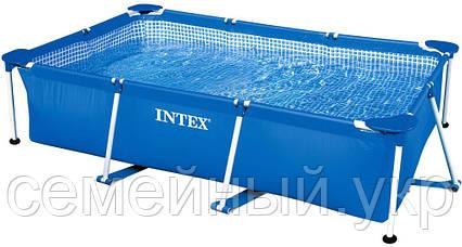 Каркасный бассейн 260х160х65. 3-х слойный ПВХ. Rectangular Frame Pool Intex 28271, фото 2