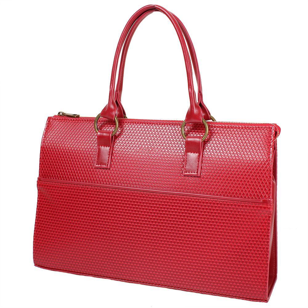 Женская сумка из качественного кожезаменителя  LASKARA (ЛАСКАРА) LK10199-red