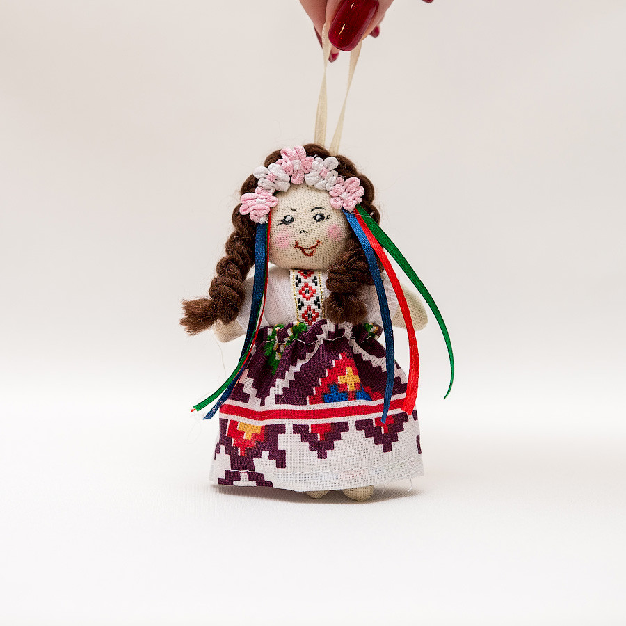 Кукла брелок мини девочка