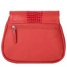 Женская кожаная сумка LASKARA (ЛАСКАРА) LK-DD217-red-croco, фото 3