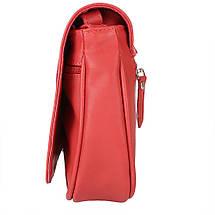 Женская кожаная сумка LASKARA (ЛАСКАРА) LK-DD217-red-croco, фото 2