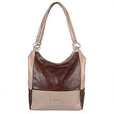Женская кожаная сумка LASKARA (ЛАСКАРА) LK-DD212-brown-taupe-beig, фото 3