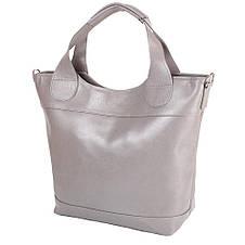 Женская кожаная сумка LASKARA (ЛАСКАРА) LK-DD218-grey, фото 2
