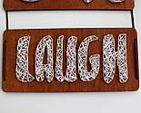 Панно стрінг-арт «Live, Love, Laugh»: біло-червоний декор для вашого інтер'єру / String Art, фото 7