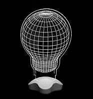 3D лампа, ночник, 3Д светодиодный настольный светильник в виде лампы, детский