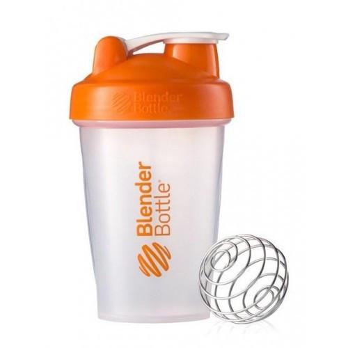 Шейкер спортивный BlenderBottle Classic 20oz/590ml прозрачно/оранжевый (ORIGINAL), фото 1