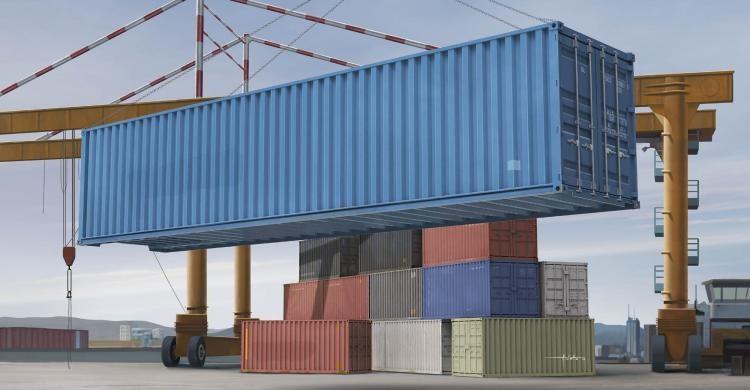 Сборная модель морского контейнера 40 футов. 1/35 TRUMPETER 01030