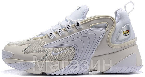 Женские кроссовки Nike Zoom 2K White (Найк Зум 2К) белые