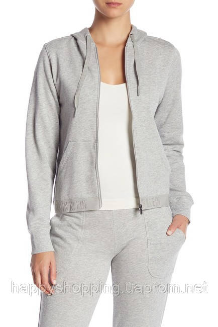 Женский оригинальный серый спортивный костюм популярного бренда Calvin Klein