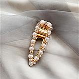 """Шпильки для волосся зі стразами і перлами """"Love fashion style"""", 10 видів, фото 8"""