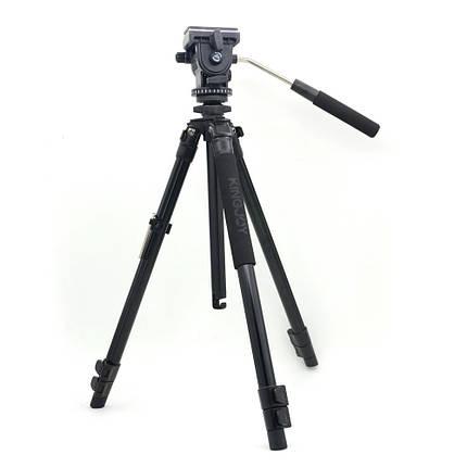 Штатив Kingjoy VT-1200 зі знімною відео головою VT-1510, фото 2