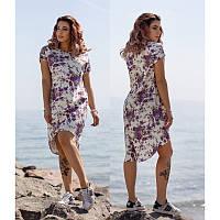 Платье Лен Цветы  мод.4028