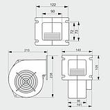 Вентилятор М+М WPA 145 (ВПА-145) нагнетательный для твердотопливного котла 505м3/ч, фото 4