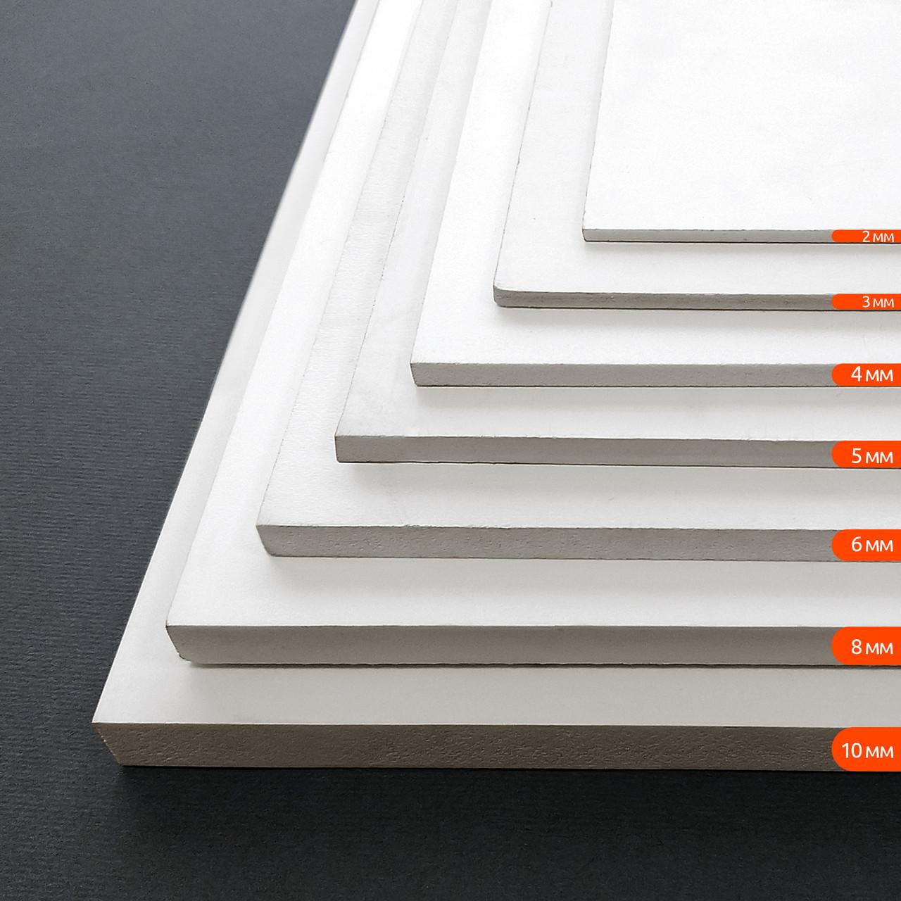 ПВХ спінений, білий, лист 1.22 х 2.44, 8 мм