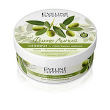 Крем для тела интенсивное питание оливки и протеины шелка Фито линия Eveline Cosmetics, 210 мл