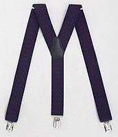 Подтяжки мужские синие с бордовым узором (Польша), фото 1