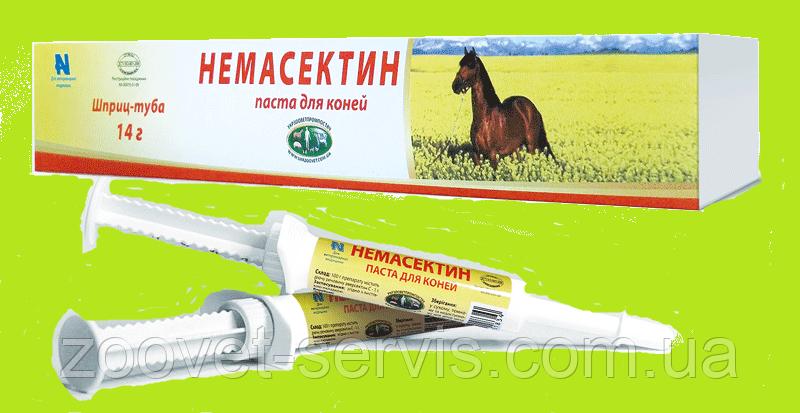 Паста от глистов для лошадей Немасектин, шприц - 14 г