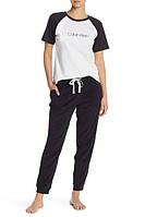Женский оригинальный стильный черный спортивный костюм 3в1 популярного бренда Calvin Klein