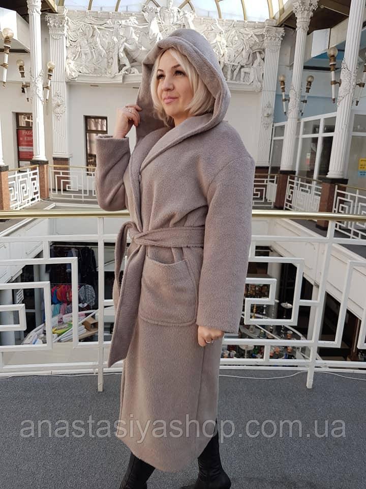Демисезонное пальто из Эко меха