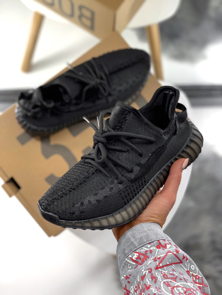 18d47640 Кроссовки Adidas Yeezy Boost 350 V2 Black, цена 1 490 грн., купить в ...