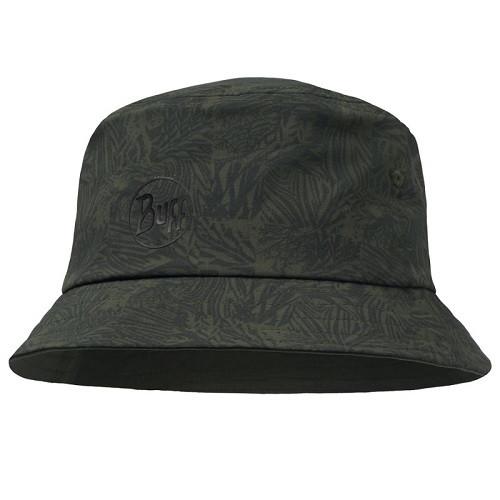 Buff Trek Bucket Hat checkboard moss green