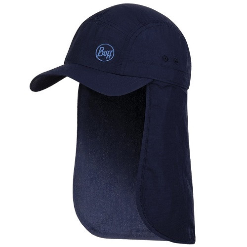 Buff Kids Bimini Cap solid navy