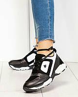 Кроссовки женские  Vip черно-белые, фото 1