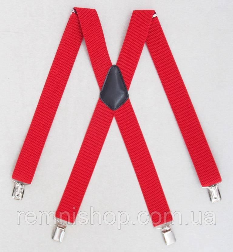 Чоловічі підтяжки червоного кольору (Польща)