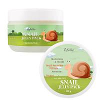 Гель маска для лица с экстрактом слизи улитки Snail Shape Memory Jelly Pack Esfolio