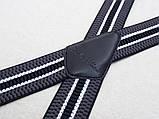 Широкие мужские подтяжки Paolo Udini черно-серые, фото 2