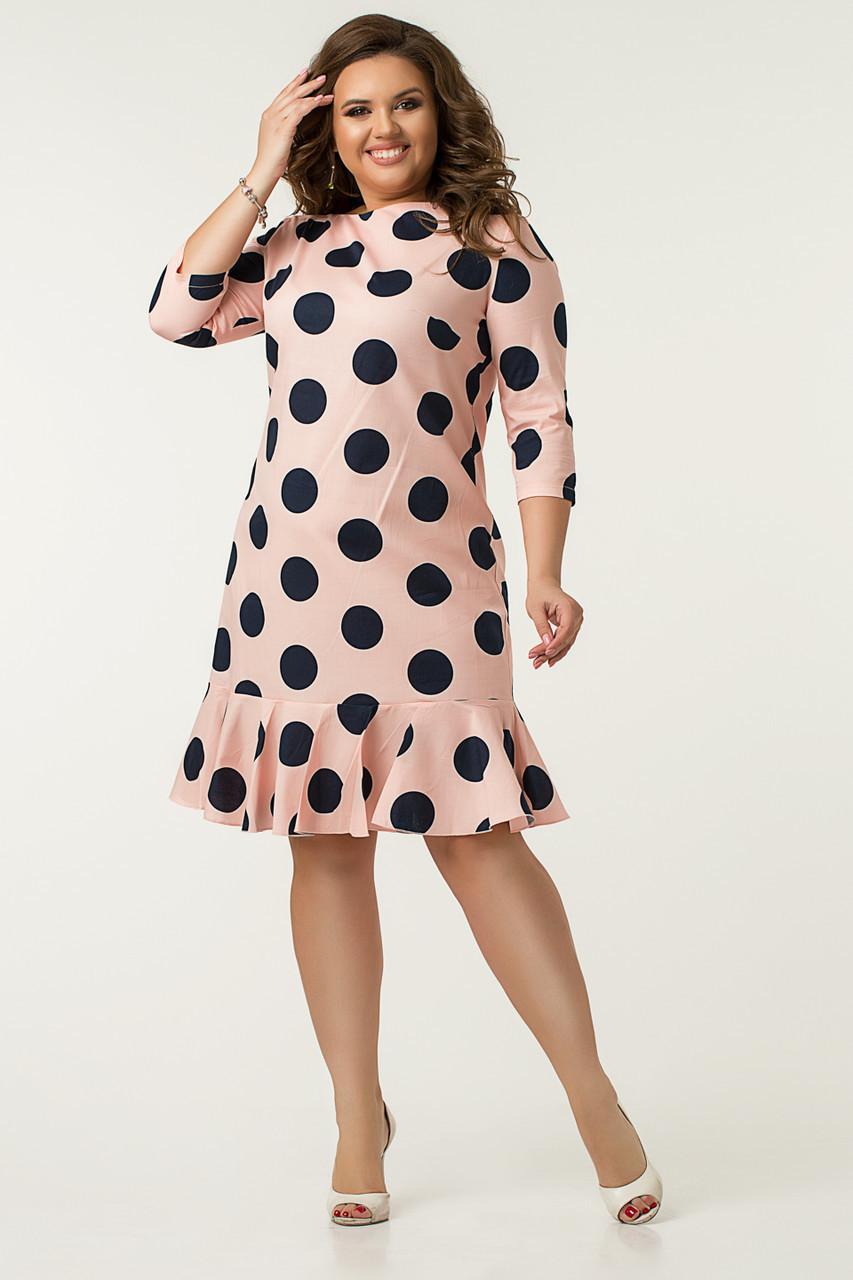 Платье Lilove №43563 56-58 пудра