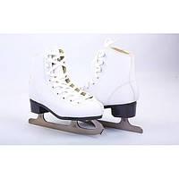 Коньки фигурные белые ZEL KF-2151