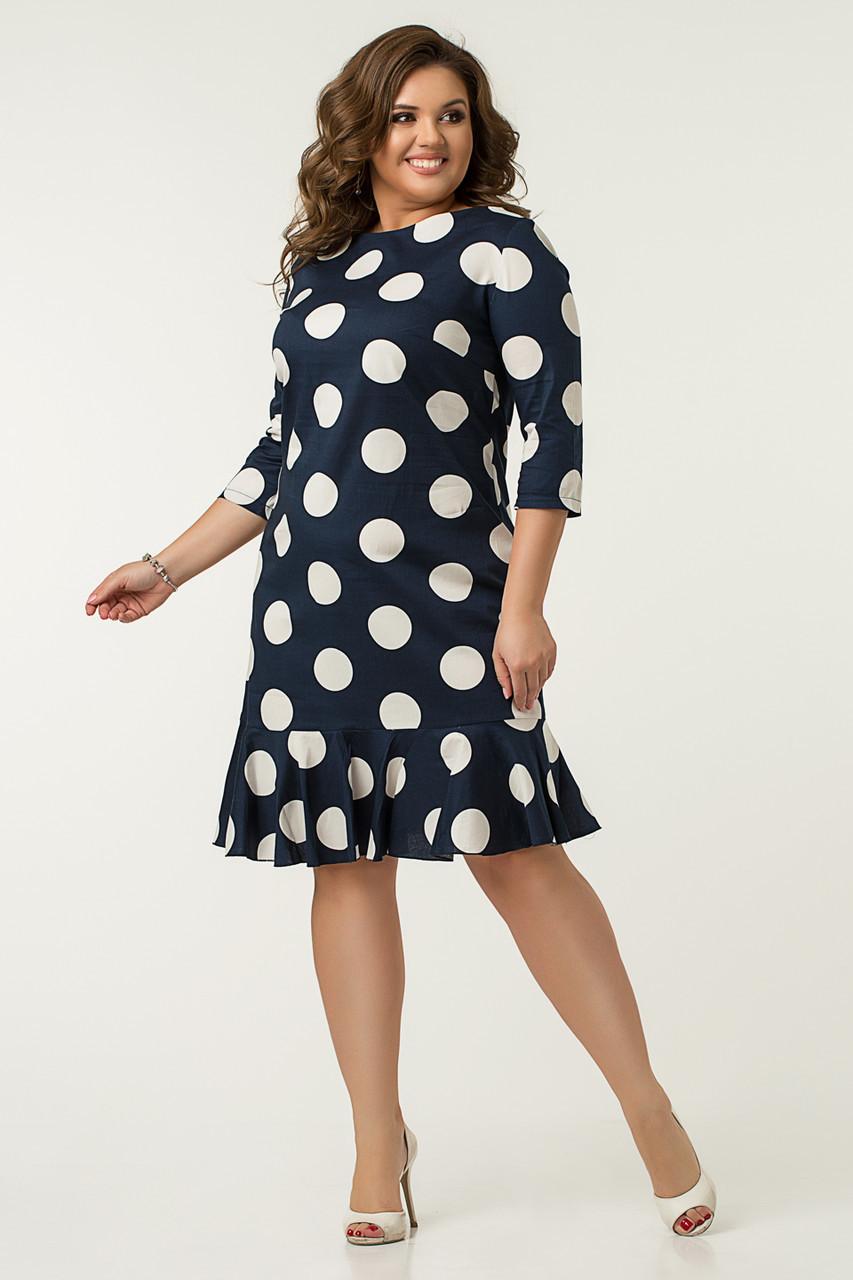 Платье Lilove №43563 52-54 синий