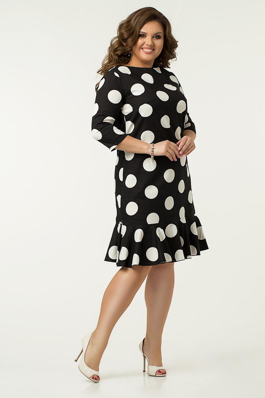 Платье Lilove №43563 56-58 черный