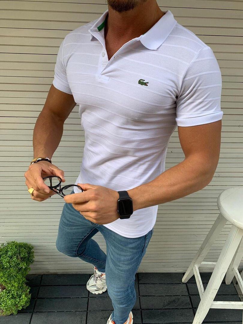 3098822aee48 Белое мужское поло LACOSTE: продажа, цена в Днепре. футболки и майки  мужские от