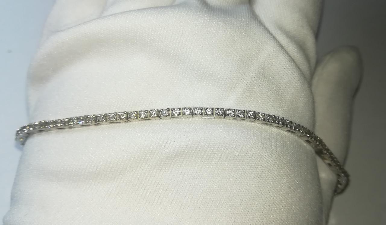 Браслет ,белое золото 750 проба.Бриллианты 2.07 карата.Сертификат