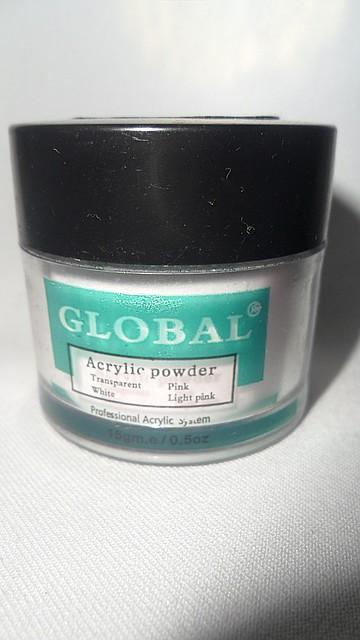 Акриловая пудра Global 14 гр.белая