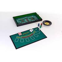 Мини-казино (набор для игры в рулетку и покер) 3 в 1 PI-0
