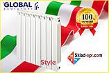 Биметаллический радиатор Global STYLE PLUS 500/100, Италия, фото 2