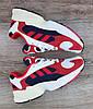 Жіночі кросівки Adidas Yung 1 (Falcon) Navy/Red/White, фото 4